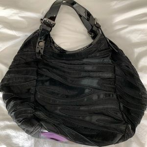 Givenchy black nylon w/leather Sacca bag